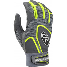 Rawlings 5150 Adult Baseball Batting Gloves серо желтая