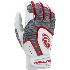 Rawlings 5150 Adult Baseball Batting Gloves бело красная