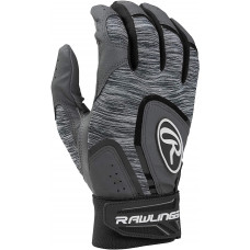 Rawlings 5150 Adult Baseball Batting Gloves черно серая