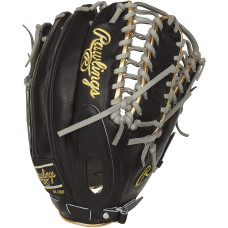 Rawlings Pro Предпочтительная бейсбольная перчатка модели Mike Trout, сетка Trap-Zee, 12,75 дюйма, бросок правой рукой, черный / верблюжий (PROSMT27B)
