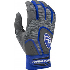 Rawlings 5150 Adult Baseball Batting Gloves серо синяя