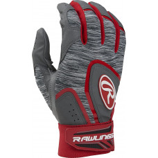 Rawlings 5150 Adult Baseball Batting Gloves серо красная