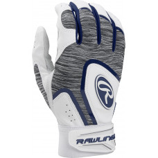Rawlings 5150 Adult Baseball Batting Gloves сине бело серая