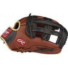 """Кожаная бейсбольная перчатка серии Rawlings Sandlot Pro H, 12-3 / 4 """", обычная, правая"""