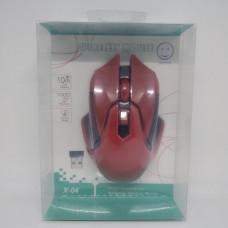 Беспроводная оптическая мышка мышь X-04 красная