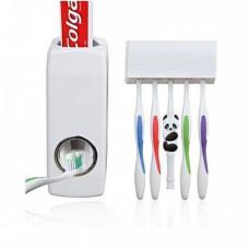 Диспенсер для зубной пасты и держатель зубных щеток с дозатором