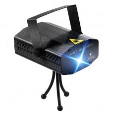 Лазерный проектор, стробоскоп, диско лазер UKC HJ08 4 в 1 c триногой Чёрный 4053