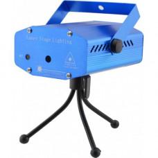 Лазерный проектор, стробоскоп, диско лазер UKC SF 40 (4 в 1) c триногой Синий