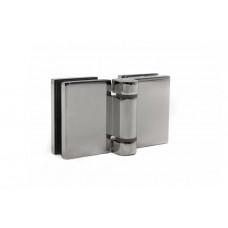 KLC-02-02-02 Петля для душевых кабин стекло-стекло 180 град полированная