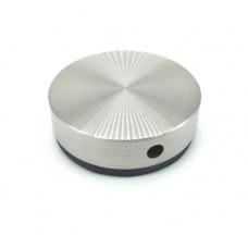 ODF-06-17-01 Коннектор круглый d40 с боковым отверстием М8, для стеклянных перил и ограждений из стекла