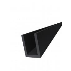 KLC-19-02-21-L3000  Профиль из алюминия  под стекло 8 мм, Black Mat