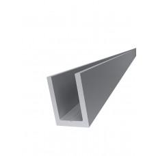 KLC-19-01-03-L3000  Профиль из алюминия  под стекло 8 мм, анодированный
