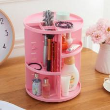 Поворотный органайзер для косметики 360´ Rotation Розовый