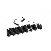 Русская проводная клавиатура + мышка Combo Gamer K01 с подсветкой