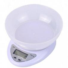 Весы кухонные Domotec ACS-126 с чашей до 7кг БЕЛЫЕ